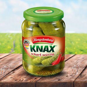 Hengstenberg - Pepinos KNAX Condimentados 330ml