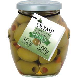 Olymp - Azeitonas Verdes c/ Alho e Pimenta Jalapeno 200g